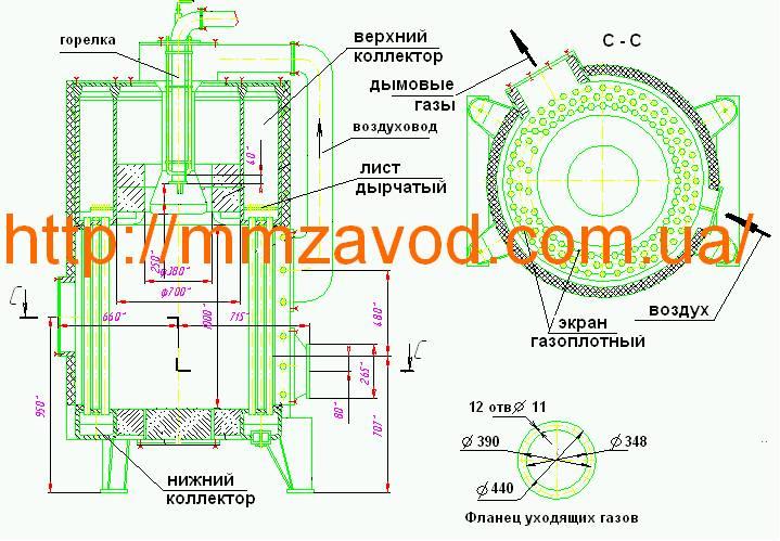 Схема парового котла МЗК